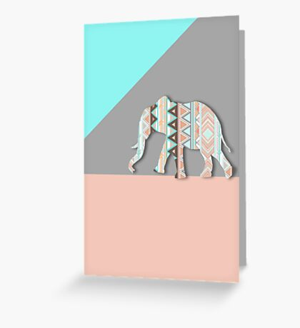 Tribal Elephant  Greeting Card