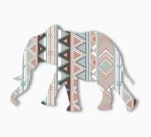 Tribal Elephant  Kids Tee