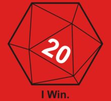 Sheldon Cooper I Win D20 Dice Kids Clothes