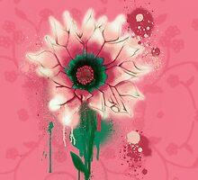 Splatter Flower by Keelin  Small