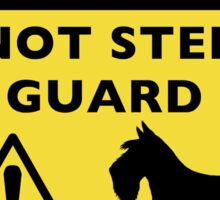 Humorous Scottish Terrier Guard Dog Warning Sticker