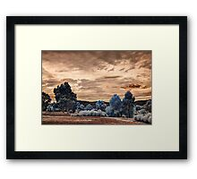 Storm clouds building up Framed Print