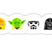 Pixel Stars Sticker