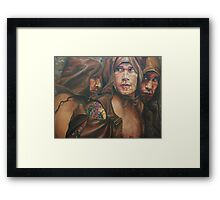 Allegory of the cave  acrylic on canvas Framed Print