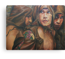 Allegory of the cave  acrylic on canvas Canvas Print