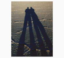 ~bonneville salt flats~father & son~tall shadow~ T-Shirt