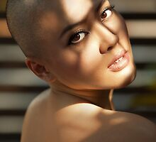 Bald girl by Dwayne Foong
