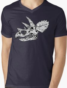 Dino Skull Mens V-Neck T-Shirt