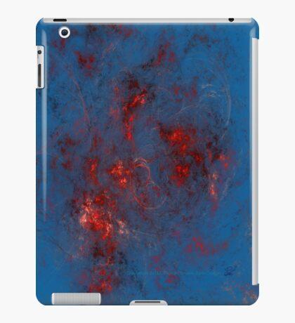Fire - Red, Blue, Silver iPad Case/Skin