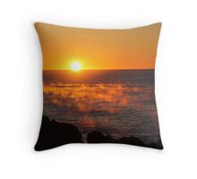 Fire on the Sea Throw Pillow