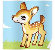 8bit Fawn Poster