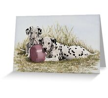 A Spot of Lunch (Dalmatian Puppies) Greeting Card