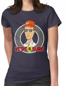 Bennylava - We're Not Too Sure Womens Fitted T-Shirt