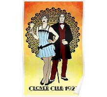 Clover Club - Art Nouveau Poster