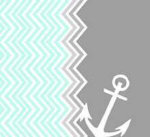 Nautical Chevron  by sunkisseddesign