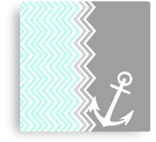 Nautical Chevron  Canvas Print