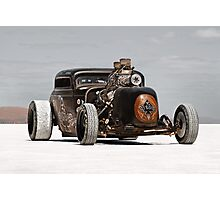 Hot Rod on the salt 3 Photographic Print