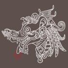 Tlacuache - White Outline by ShamansYoik