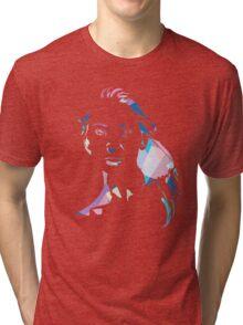 Face T-shirt - blue Tri-blend T-Shirt