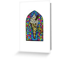 Stained glass Ice cream Greeting Card