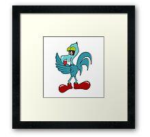 Chicken Singer Framed Print