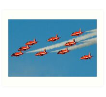 Red Arrows Art Print