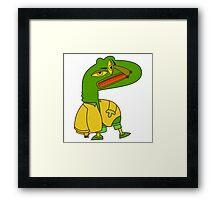 Crocodile Monster Framed Print