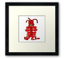 Ugly Red Monster Framed Print