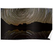 Cradle Mountain Star Trails Poster