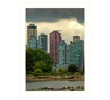 Vancouver Skyline Art Print