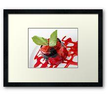 Summer Berries in Jelly Dessert Framed Print