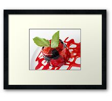 Summer Berries in Jelly Dessert Framed Print