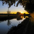 Kennet and Avon Sunset by mlphoto