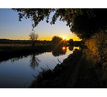 Kennet and Avon Sunset Photographic Print