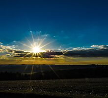 Combe Sunset England by mlphoto