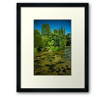 Sparkling Clear River Framed Print