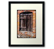 Ye Olde Wooden Door Framed Print