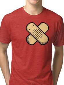 Little Band-aid man (Red) Tri-blend T-Shirt