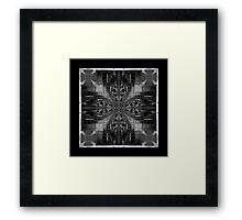 black and white chair fractal art pattern Framed Print