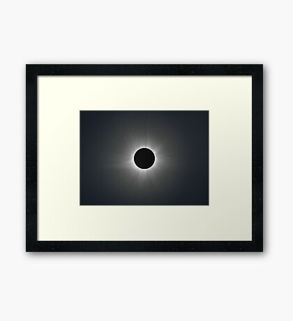 Solar Corona during Total Eclipse Framed Print