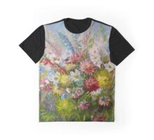 Olga Jonsson Oil Painting Flowers Graphic T-Shirt