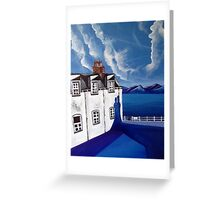 Fishermans cottages & Loch Broom Ullapool,Scotland Greeting Card