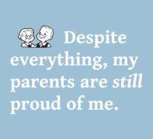Unconditional Parental Pride (White) Kids Tee