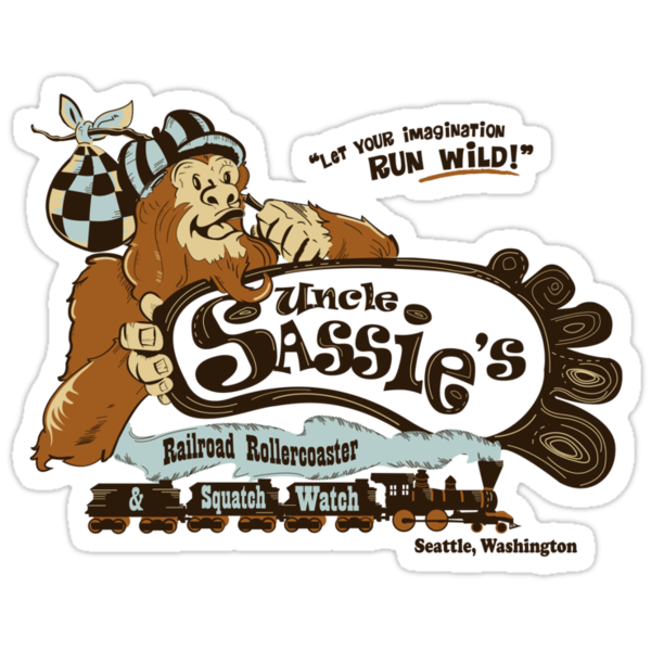 Uncle Sassie's Railroad Rollercoaster and Squatch Watch! by Creative Outpouring