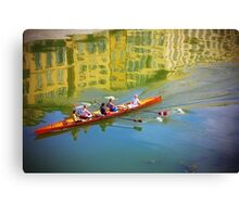 Rowing Canvas Print