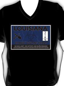 Louisiana Zombie Hunting License T-Shirt