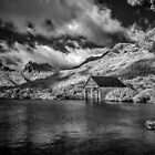Boatshed, Dove Lake Tas (Infrared) by John Conway