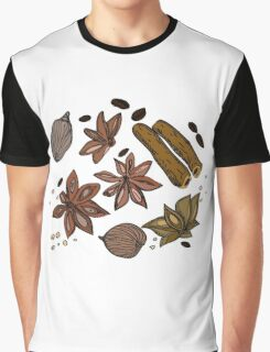 Hand drawn colored spices sketch set Graphic T-Shirt