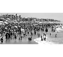 Summer Beach in Black & White Photographic Print