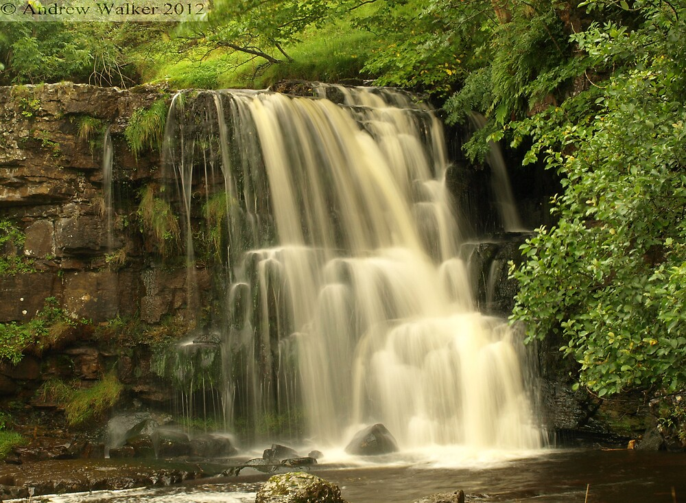 Waterfall in Swaledale by aw1965